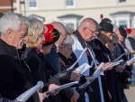 Father Paul blessed the SEAHAM Field of a Remembrance